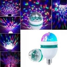Título do anúncio: Lâmpada LED Globo Colorida Rotativa Festa Boate<br><br>