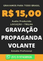 Título do anúncio: Qualidade e Preço Baixo, Promoção, Locutor Online, Gravação de Vinheta, Propaganda