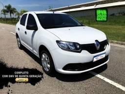 Título do anúncio: Renault Logan Authentic 1.0 com GNV