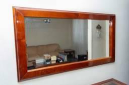 Espelho / em Madeira Mogno 75 cm x 140 cm x 4 cm