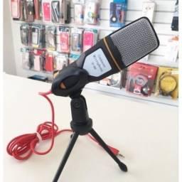 Título do anúncio: Microfone Condensador Mesa Profissional Podcast Gravação iPhone Pc Skype Video Sf-666