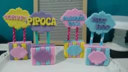 Doces decorados tema circo Rosa . Prontos fabricação 5 de março