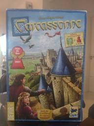 """Jogo Carcassone - jogo do ano 2001- inclui expansões """"O rio"""" e """"O abade"""""""