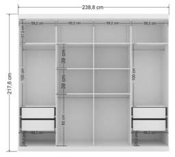 Título do anúncio: Roupeiro Guarda-Roupa 8 portas e 4 gavetas!!