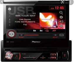 DVD RETRÁTIL PIONEER MP3,USB, CAMERA RÈ NOVINHO