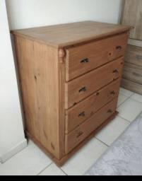 Cômoda de madeira 4 gavetas