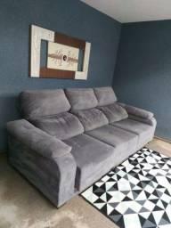 sofa grande retratil e reclinavel entrego imperdível