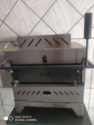 Forno Pizza Grill Industrial Gás Infrave Refrataria Em Inox