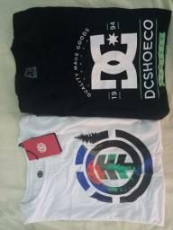 Camisas originais Element e DC (M)