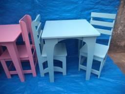 Vendo kit de mesa infantil azul