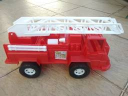Brinquedo Caminhão de plástico do Bombeiro