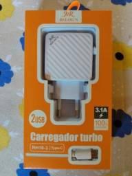 Carregador Turbo Tipo C Hmaster Novo $30