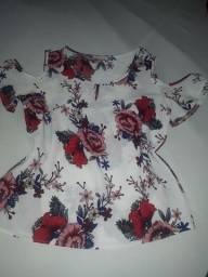 Blusa floral de crepe