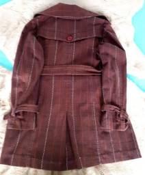 Casaco tipo trench-coat tamanho 40