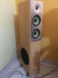 Par de caixas de som frontal