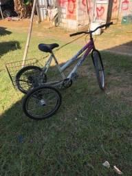Triciclo com cesta para bagagem