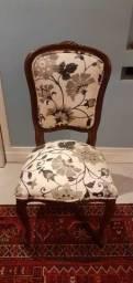 Cadeira provençal / em Madeira Marrom 96 cm x 52 cm x 49 cm