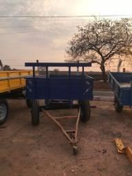 Título do anúncio: Carreta Agrícola 4 rodas - 4 toneladas - azul - nova
