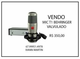 Microfone Behringer T1 Valvulado