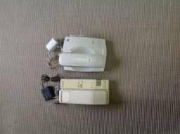 Telefones com e sem fio, bina, secretária eletrônica
