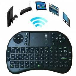 Teclado Sem Fio Wireless Com Mouse Touch 2,4Gz Para Celular, Tv Box, TV Smart, etc