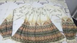 Blusa ciganinha manga comprida