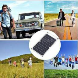 Carregador Solar 10W Ultra Fina Usb Atividades Ao Ar Livre