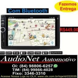 Central Multimidia Com Bluetooth Mp5 Espelha Android ios Usb Pendrive Controle Carro