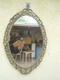Espelho antigo em bronze ( Barbada)