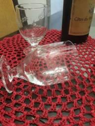 Taças antigas de cristal lapidado