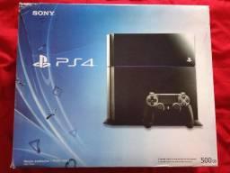 PS4 fat 500gb completo na caixa + 5 jogos
