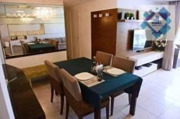 Apartamento com 3 dormitórios à venda, 78 m² por R$ 458.000 - Guararapes - Fortaleza/CE