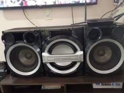 Somente as caixas do som