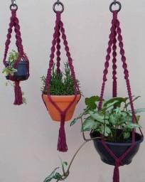 Combo 3 suportes de plantas