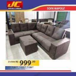 Sofa de canto Napole R$ 999,00 a vista