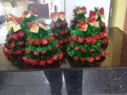 Árvores de Natal feita de balas