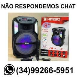 Caixa de Som Karaoke 1200w Com Microfone Kimiso Qs-4801