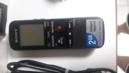 Gravador de Voz Sony com Microfone de lapela Sony ECM-CS3