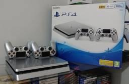 Playstation 4 Ps4 Slim 500GB Edição Limitada Silver / Troco / Parcelo