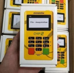 Maquininha de Cartão Minizinha Chip 2, Kit com 10 ou 20 unidades - Atacado