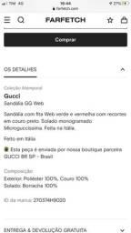 Sandália Gucci GG dourado atemporal