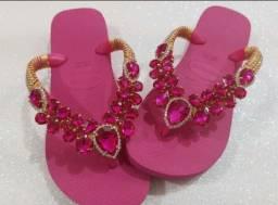 Sandalia havaiana Customizadas luxo