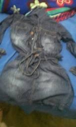 Um Vestido Jeans , e um sutiã