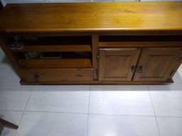Rack de sala de madeira