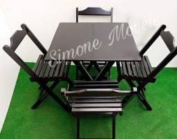 Título do anúncio: Mesa dobrável genova com cadeiras