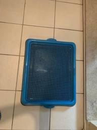 Suporte grande para tapete higiênico para cachorro ou gato nunca foi usado