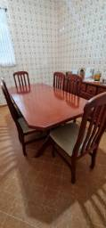 Mesa jantar 6 cadeiras impecável