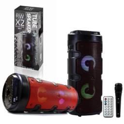 Caixa de Som Mbtech X2 Tube Speaker Bluetooth C/ Microfone e Controle