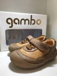Sapatênis infantil em couro, marca Gambo