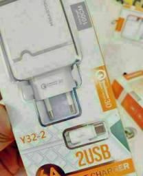 Carregador pra smartphone LG, Samsung, Motorola e Xiaomi